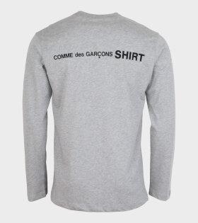 Comme des Garcons Shirt - Logo Back L/S T-shirt Grey