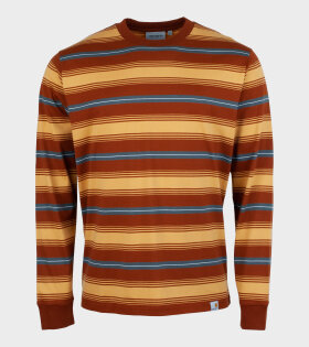 Carhartt WIP - Buren L/S T-shirt Brown Stripe
