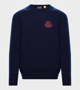 Moncler X 1952 - Girocollo Tricot Knit Navy