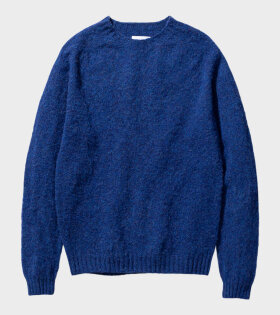 Norse Projects - Birnir Brushed Lambswool Twilight Blue