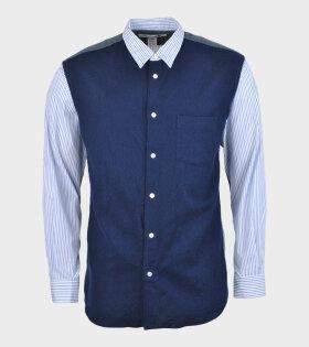 Comme des Garcons Shirt - Cotton Wool Shirt Blue Mix