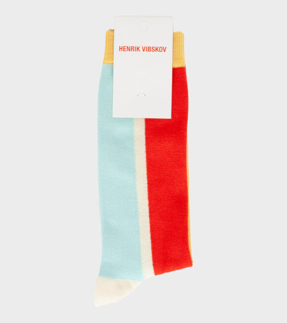 Henrik Vibskov - Block Socks Red Front
