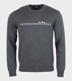 A.P.C - Pull Eponyme Knit Dark Grey