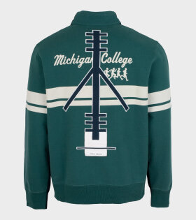 Michigan College Half Zip Navy