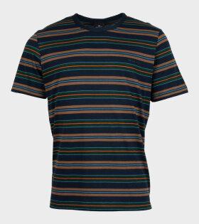 Paul Smith - Reg Fit SS T-shirt Stripe Multicolour