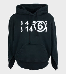 MM6 Maison Margiela - Numbers Hoodie Black