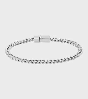 Tom Wood - Rounded Curb Bracelet Thin Silver