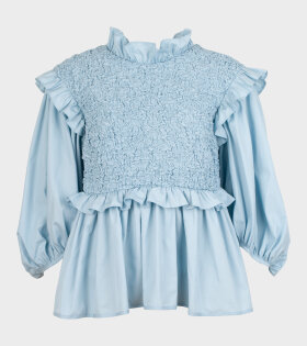 Luna Blouse Misty Blue