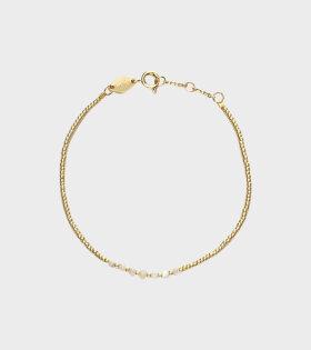 Bead & Gem Bracelet Pearl