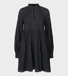 Jasmine Dress Gingham Black
