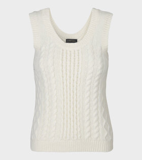Lucas Cable Vest Off White