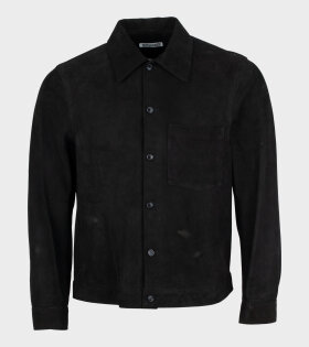 Our Legacy - Reincarnation Suede Shirt Black Suede