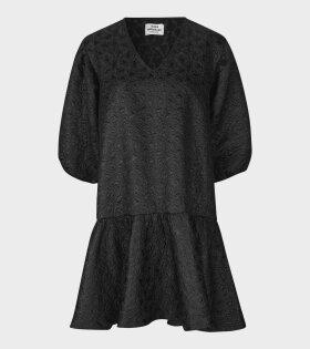 Mads Nørgaard  - Destilla Dreamy Jaquard Dress Black