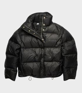 Cropped Down Jacket Black