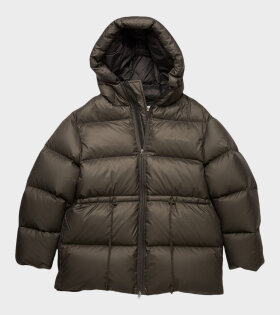Acne Studios - Hooded Puffer Coat Dark Grey