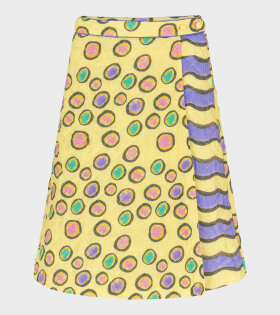 Helmstedt - Petit Four Short Quilted Skirt Yellow
