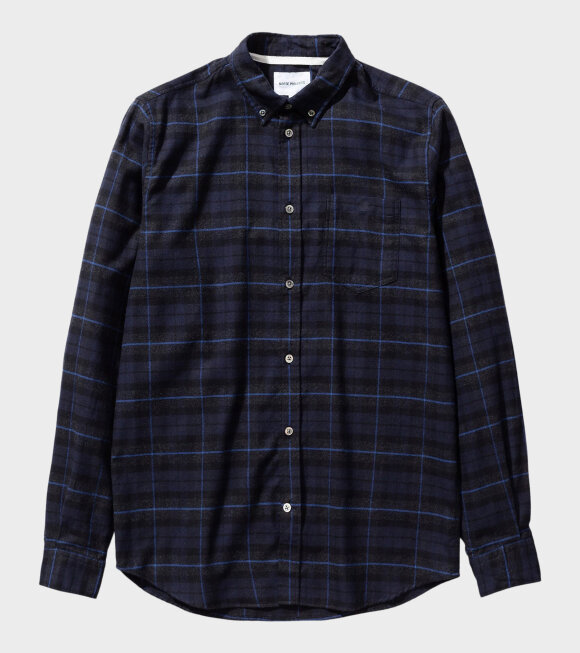 Norse Projects - Anton Brushed Fannel Check Shirt Navy