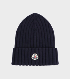 Moncler - Berretto Tricot Beanie Navy
