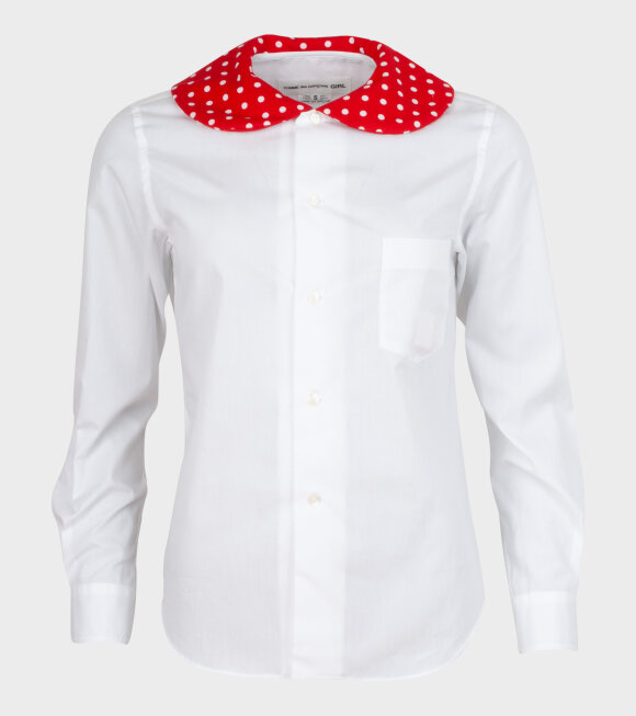 Comme des Garcons Girl - Minnie Dot 1 Shirt White/Red