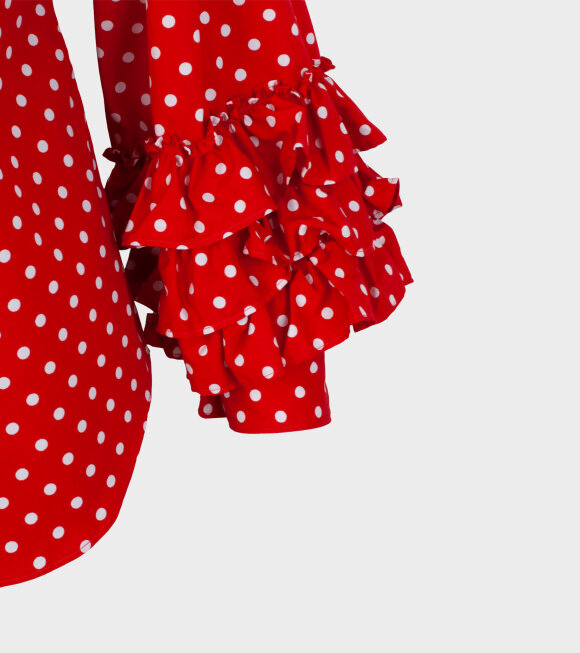 Comme des Garcons Girl - Minnie Dot 2 Shirt Red/White