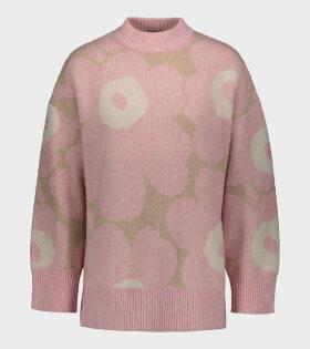 Marimekko - Onnekas Unikko Knit Pink