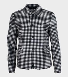 Comme des Garcons - Checkered Blazer Black