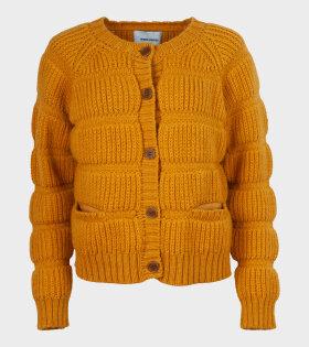 Henrik Vibskov - Chunky Tubes Cardi Knit Yellow