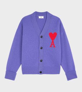 Ami de Coeur Knit Cardigan Purple