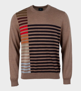 Paul Smith - Mens Pullover Crew Neck Brown