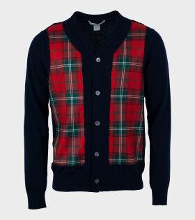 Comme des Garcons Shirt - Checkered Cardigan Multicolour
