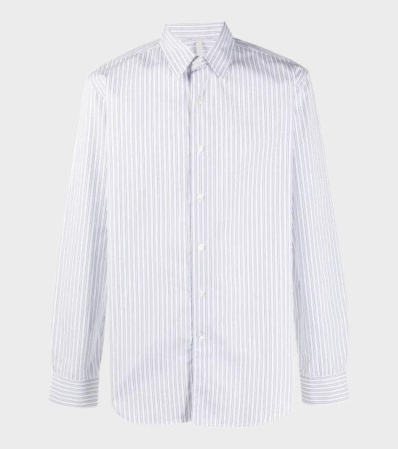 SUNFLOWER - Dan Shirt White/Blue