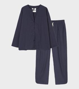 Pyjamas Seersucker Navy