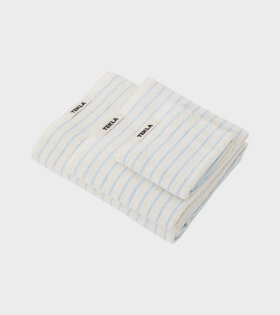 Guest Towel 30x50 Baby Blue Stripes