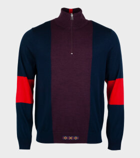 Paul Smith - Pullover Zip Neck Multicolour