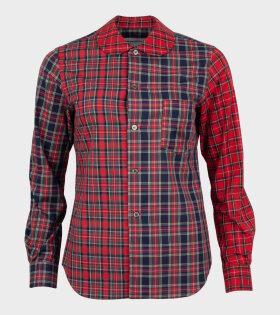 Ladies Checkered 1 Shirt Red