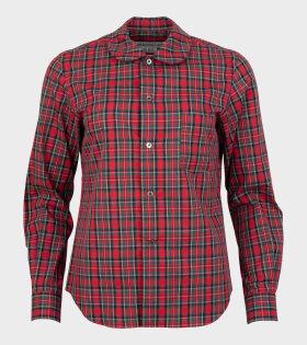 Ladies Checkered 2 Shirt Red