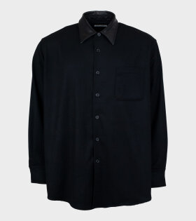 Our Legacy - Above Shirt Black Melton