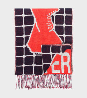 Henrik Vibskov - Hot Water Scarf Red Gloves