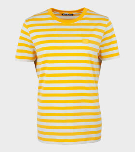 Ellison Stripe Face T-shirt Yellow