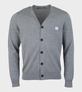 Keve Face Cardigan Grey