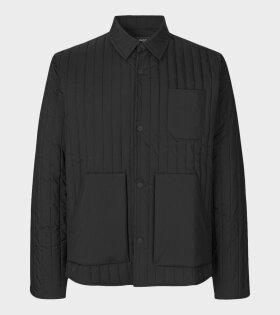 Mads Nørgaard  - Sero Crinkle Nylon Jacket Black