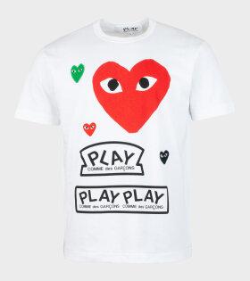 M Mixed Hearts T-shirt White