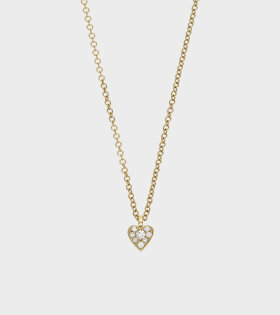 Coeur Diamant Necklace Gold