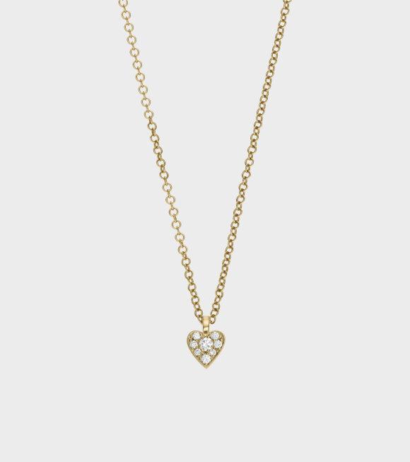 Sophie Bille Brahe - Coeur Diamant Necklace Gold