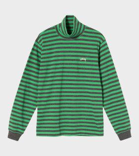 Stüssy - Stripe Turtleneck Green/Grey