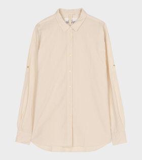Aiayu - Seersucker Shell Shirt Orange