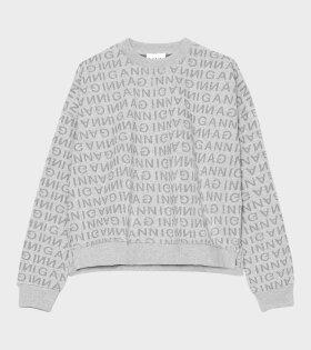 Ganni - Jacquard Isoli Sweatshirt Grey