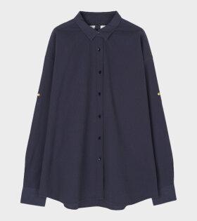 Aiayu - Seersucker Navy Shirt
