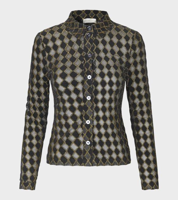 Stine Goya - Nevena Diamond Ced Shirt Black