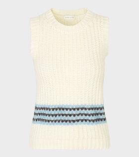 Stine Goya - Yarrow Sand Vest White